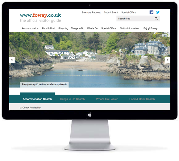 Fowey web site - Tourism Essentials solution from New Mind tellUs