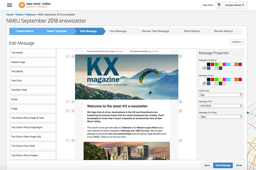 Mailminder - email marketing solution for tourism